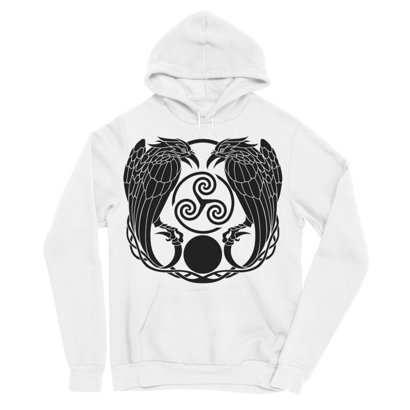 Nine While Nine ~ Black Ravens Logo Women's Sponge Fleece Pullover Hoody by The Dark Whimsy Emporium
