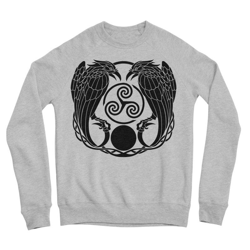 Nine While Nine ~ Black Ravens Logo Men's Sponge Fleece Sweatshirt by The Dark Whimsy Emporium