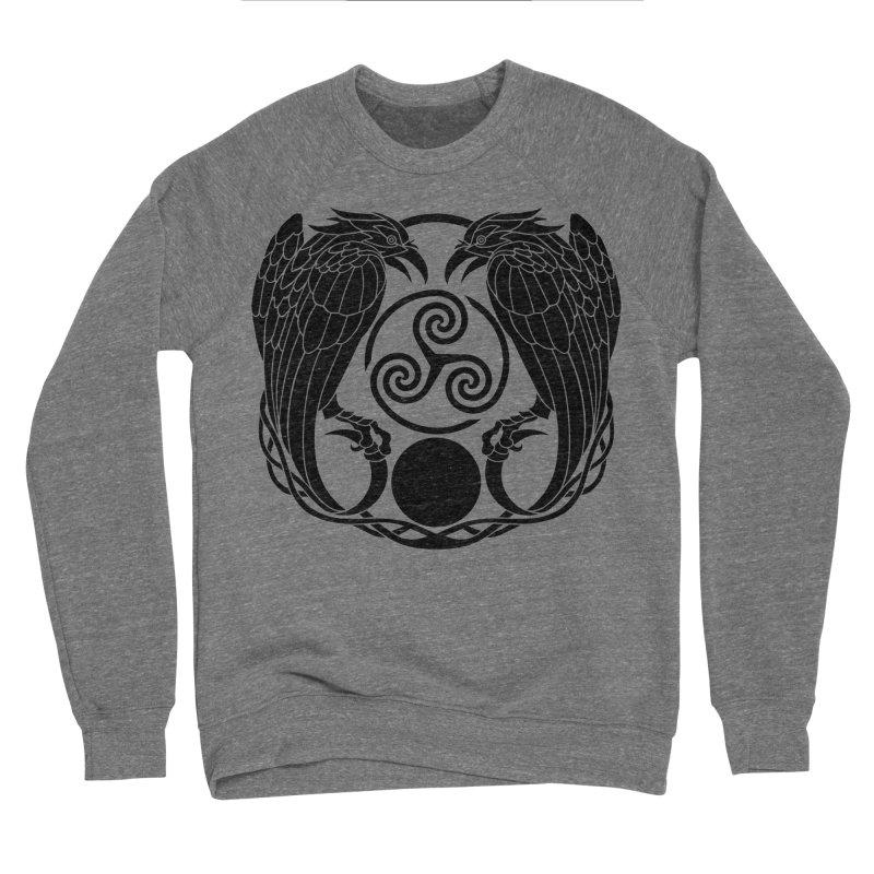 Nine While Nine ~ Black Ravens Logo Women's Sponge Fleece Sweatshirt by The Dark Whimsy Emporium