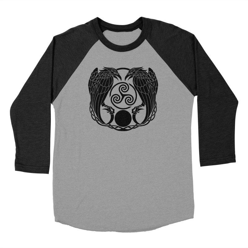 Nine While Nine ~ Black Ravens Logo Women's Baseball Triblend Longsleeve T-Shirt by The Dark Whimsy Emporium