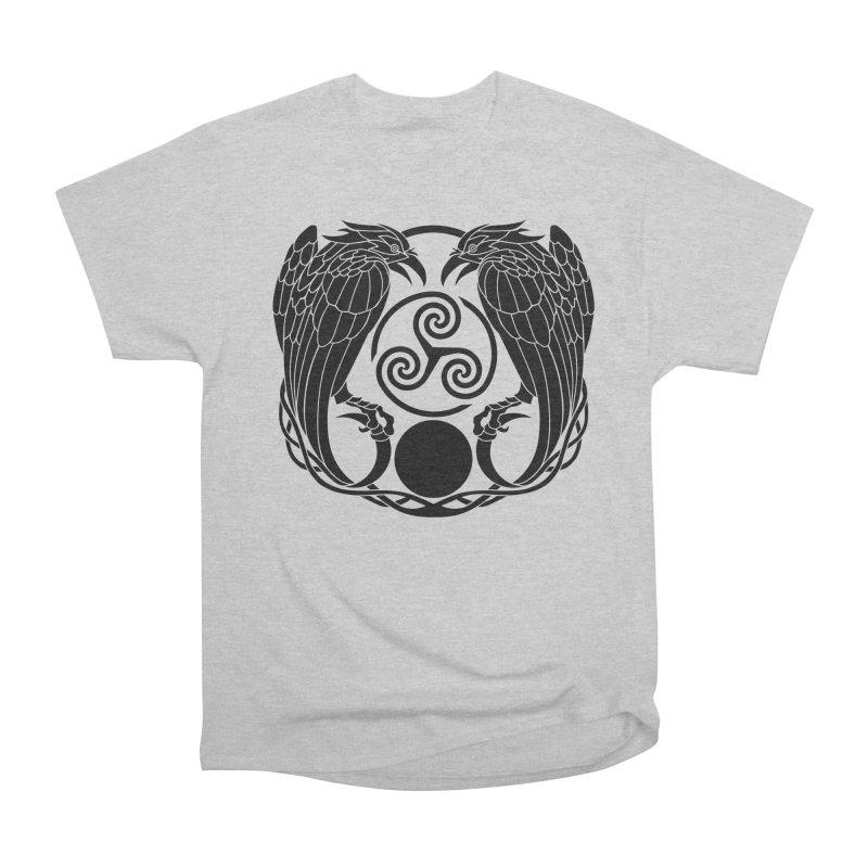 Nine While Nine ~ Black Ravens Logo Men's Heavyweight T-Shirt by The Dark Whimsy Emporium