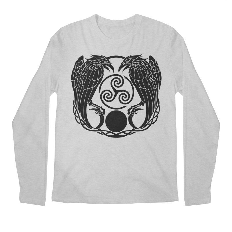 Nine While Nine ~ Black Ravens Logo Men's Regular Longsleeve T-Shirt by The Dark Whimsy Emporium