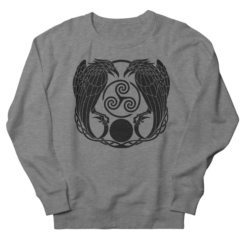 Nine While Nine ~ Black Ravens Logo Women's French Terry Sweatshirt by The Dark Whimsy Emporium