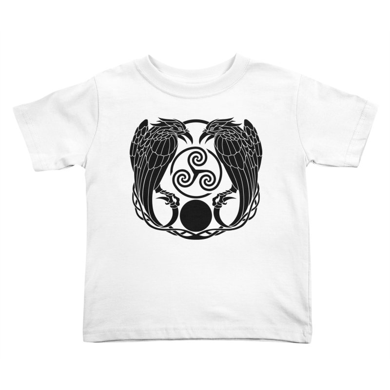 Nine While Nine ~ Black Ravens Logo Kids Toddler T-Shirt by The Dark Whimsy Emporium