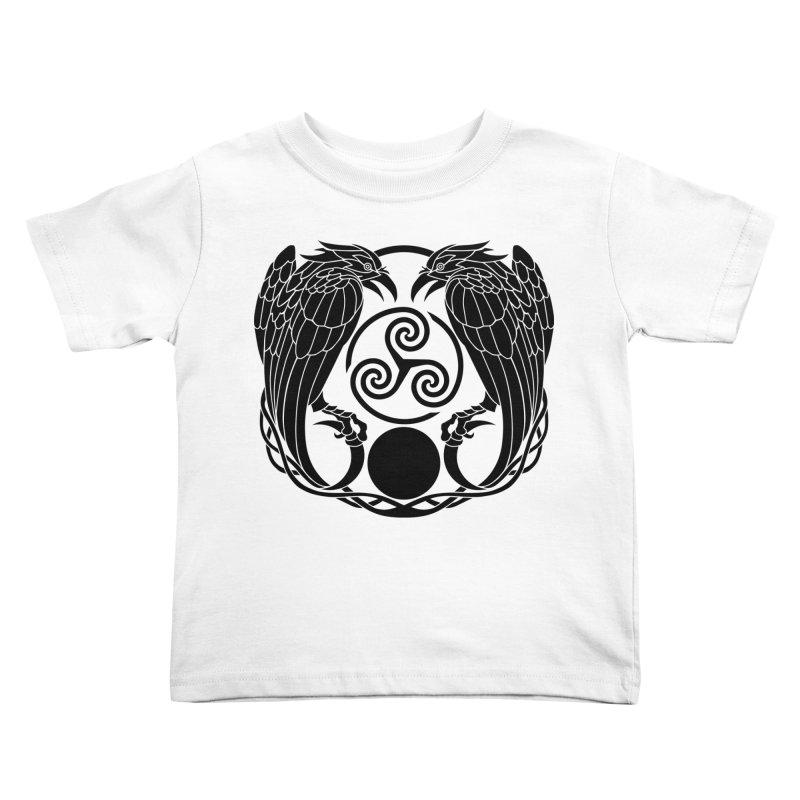 Nine While Nine ~ Black Ravens Logo Kids Toddler T-Shirt by The Dark Whimsy Emporium