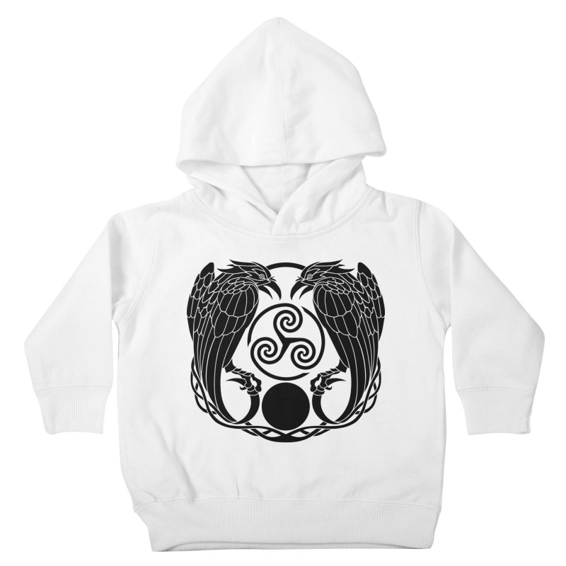 Nine While Nine ~ Black Ravens Logo Kids Toddler Pullover Hoody by The Dark Whimsy Emporium