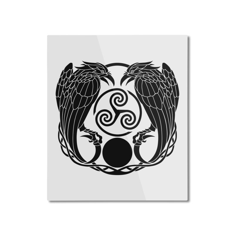 Nine While Nine ~ Black Ravens Logo Home Mounted Aluminum Print by The Dark Whimsy Emporium