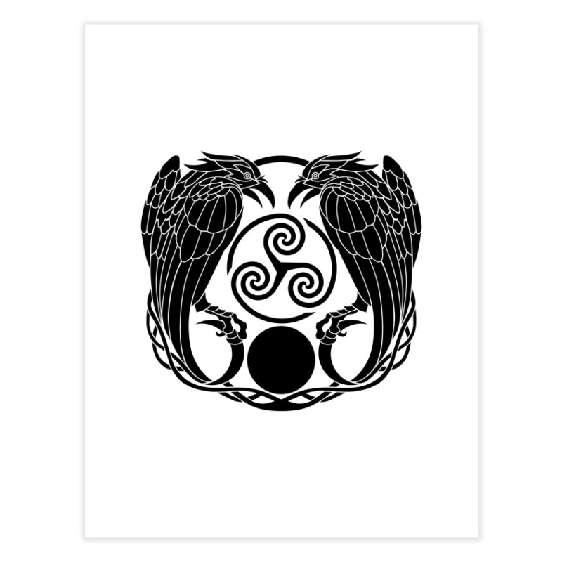 Nine While Nine ~ Black Ravens Logo Home Fine Art Print by The Dark Whimsy Emporium