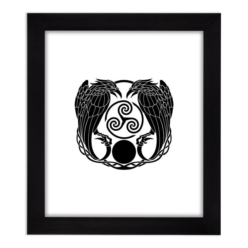 Nine While Nine ~ Black Ravens Logo Home Framed Fine Art Print by The Dark Whimsy Emporium