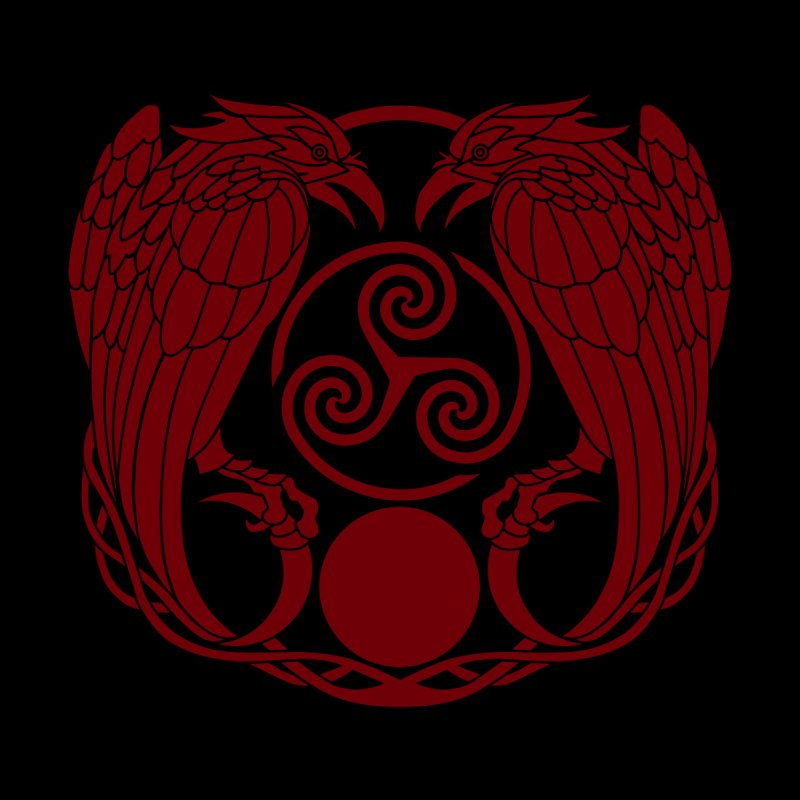 Nine While Nine Logo ~ Ravens Triskele - OxBlood by TheDarkWhimsy's Artist Shop