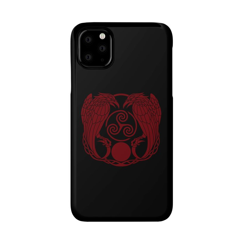 Nine While Nine ~ Red Ravens Logo Accessories Phone Case by The Dark Whimsy Emporium