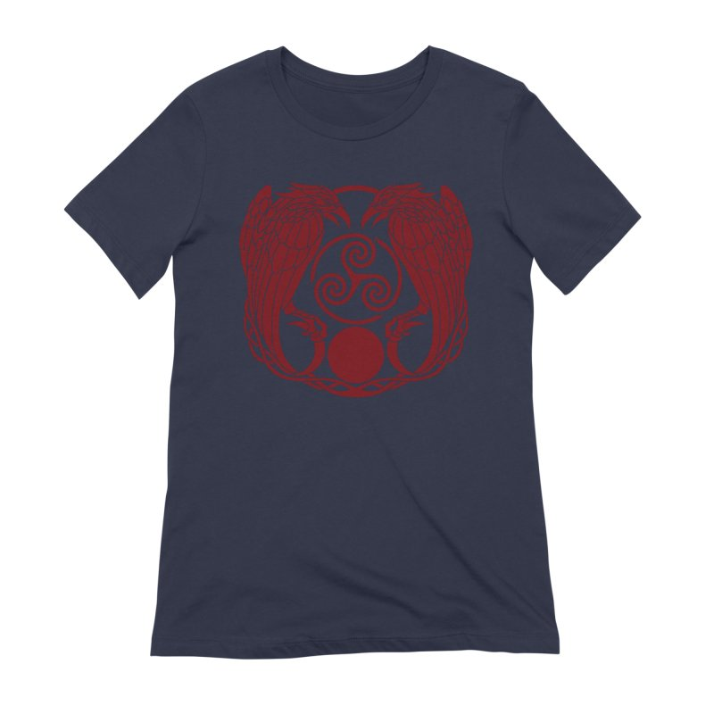 Nine While Nine ~ Red Ravens Logo Women's Extra Soft T-Shirt by The Dark Whimsy Emporium