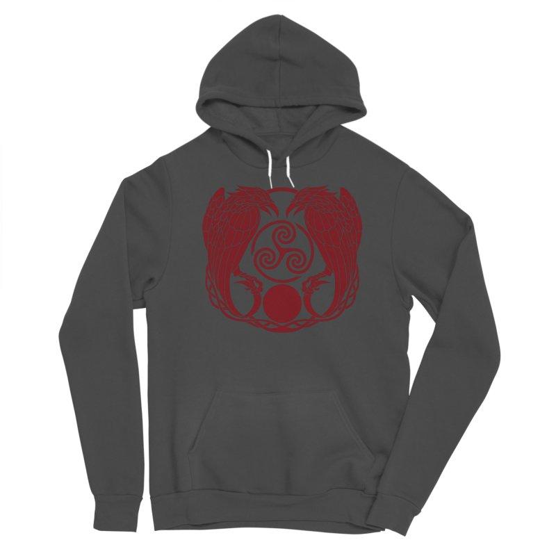 Nine While Nine ~ Red Ravens Logo Women's Pullover Hoody by The Dark Whimsy Emporium