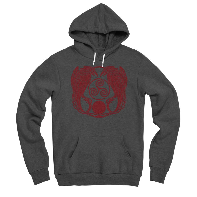 Nine While Nine ~ Red Ravens Logo Men's Pullover Hoody by The Dark Whimsy Emporium