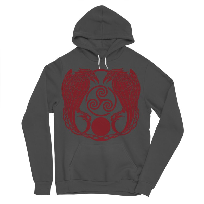 Nine While Nine ~ Red Ravens Logo Women's Sponge Fleece Pullover Hoody by The Dark Whimsy Emporium