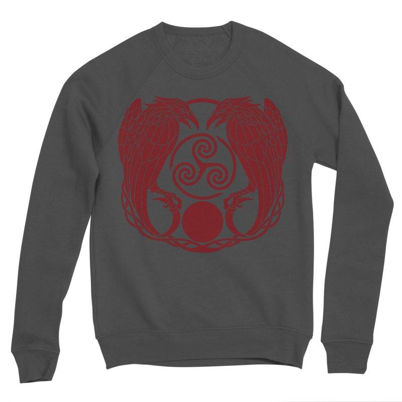 Nine While Nine ~ Red Ravens Logo Men's Sponge Fleece Sweatshirt by The Dark Whimsy Emporium