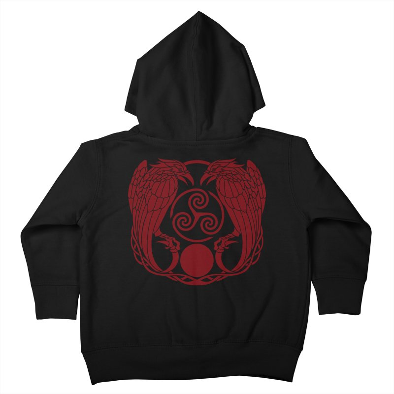 Nine While Nine ~ Red Ravens Logo Kids Toddler Zip-Up Hoody by The Dark Whimsy Emporium