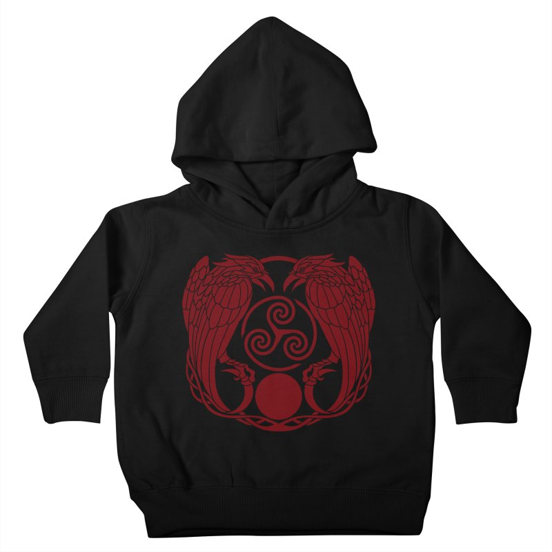 Nine While Nine ~ Red Ravens Logo Kids Toddler Pullover Hoody by The Dark Whimsy Emporium