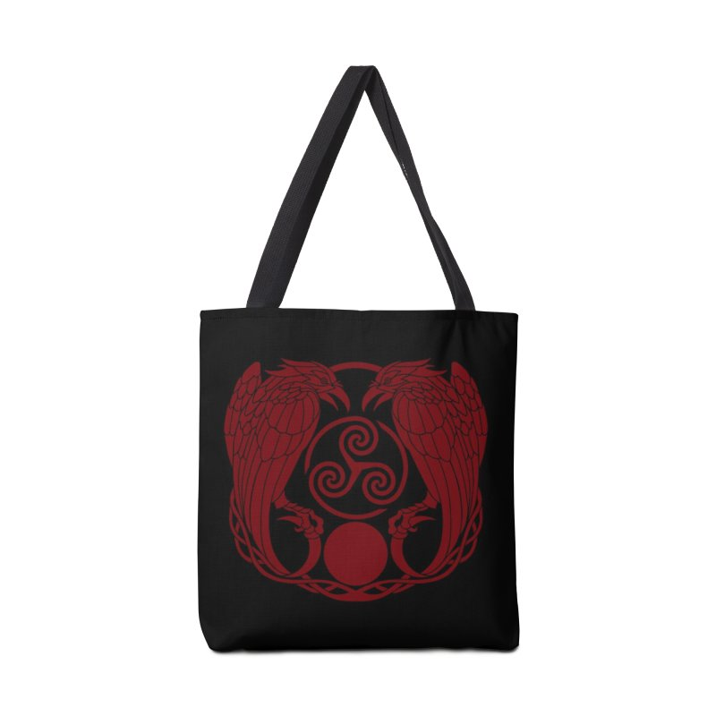 Nine While Nine ~ Red Ravens Logo Accessories Bag by The Dark Whimsy Emporium