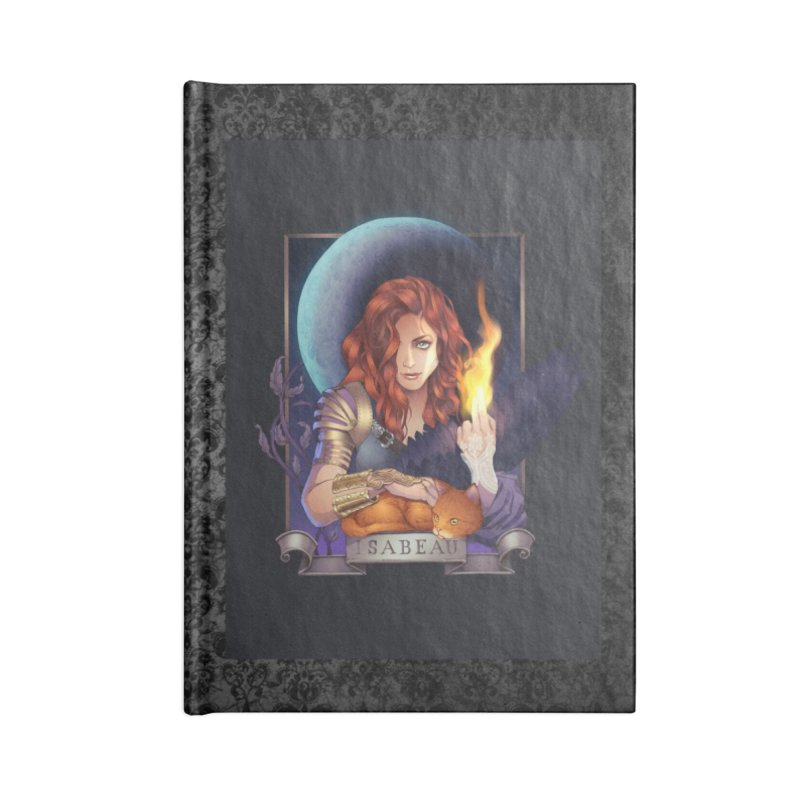 Isabeau ~ The Nine While Nine Legacy Accessories Lined Journal Notebook by The Dark Whimsy Emporium