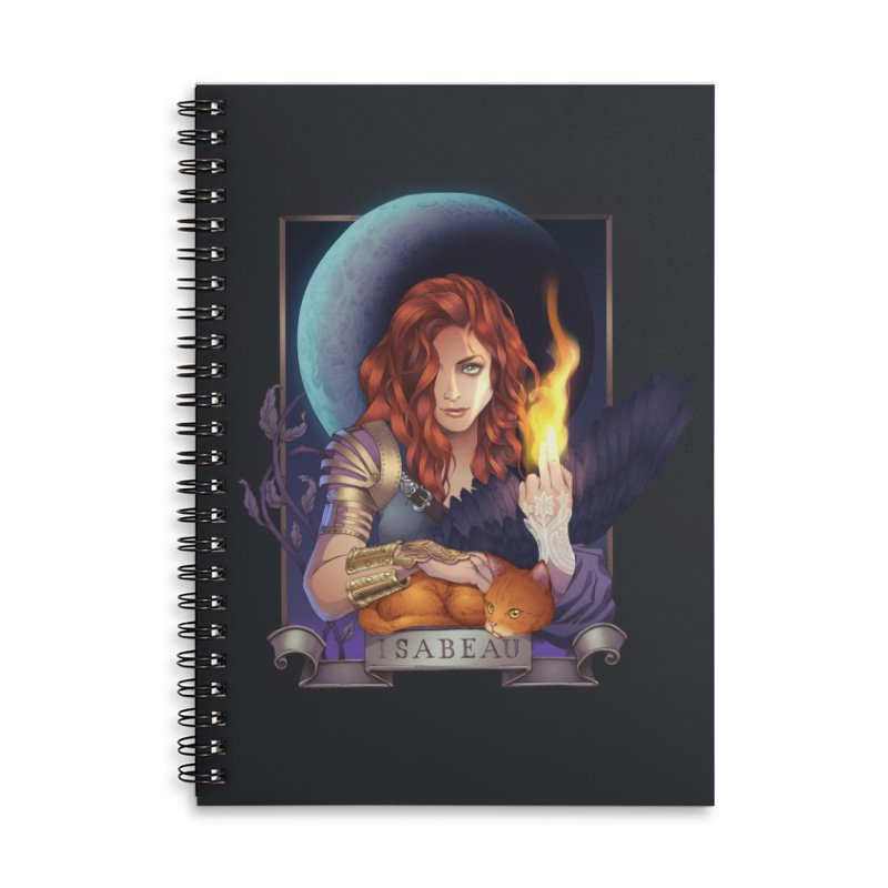 Isabeau ~ The Nine While Nine Legacy Accessories Lined Spiral Notebook by The Dark Whimsy Emporium