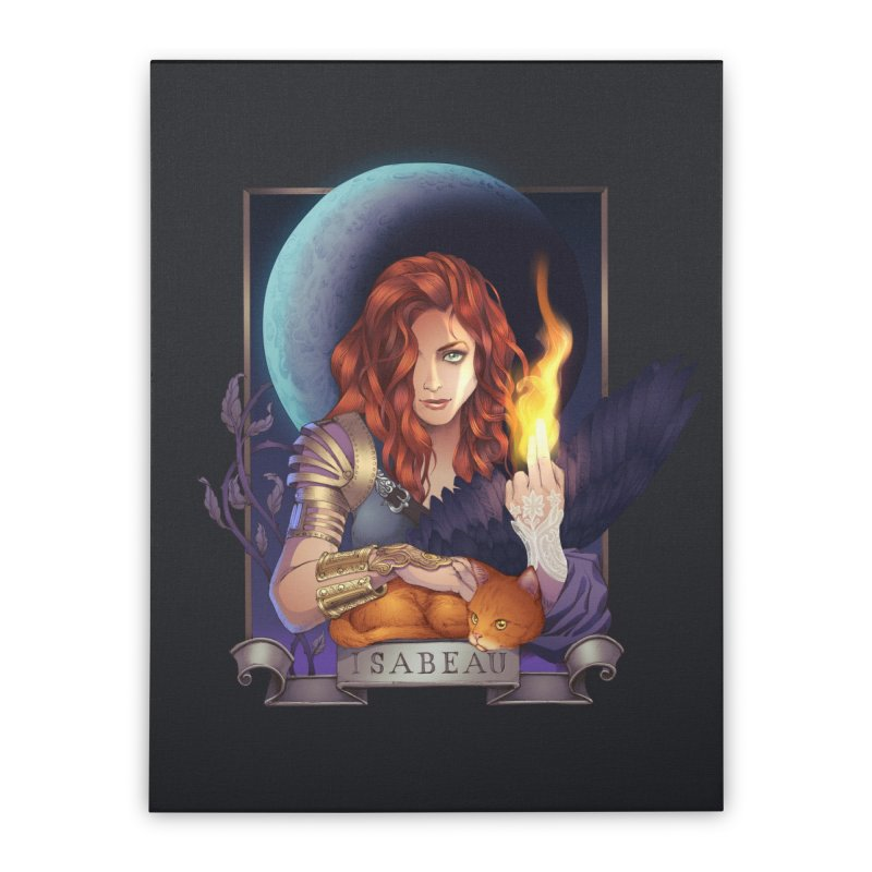 Isabeau ~ The Nine While Nine Legacy Home Stretched Canvas by The Dark Whimsy Emporium