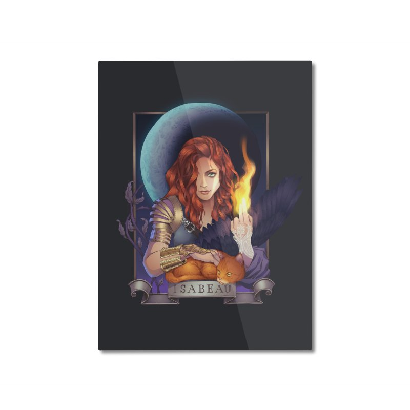 Isabeau ~ The Nine While Nine Legacy Home Mounted Aluminum Print by The Dark Whimsy Emporium