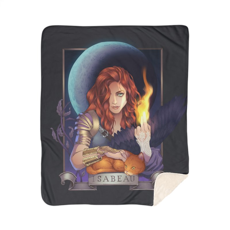 Isabeau ~ The Nine While Nine Legacy Home Sherpa Blanket Blanket by The Dark Whimsy Emporium