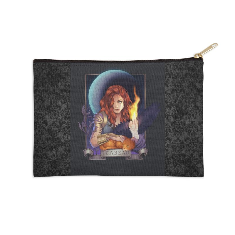 Isabeau ~ The Nine While Nine Legacy Accessories Zip Pouch by The Dark Whimsy Emporium