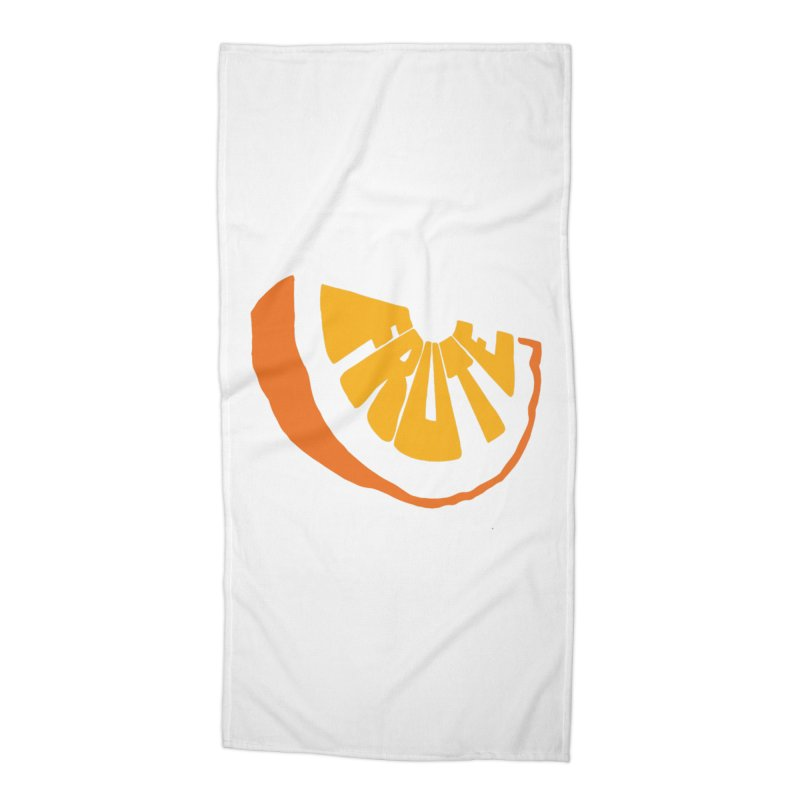 Frute Logo Accessories Beach Towel by TheFruteStand's Artist Shop