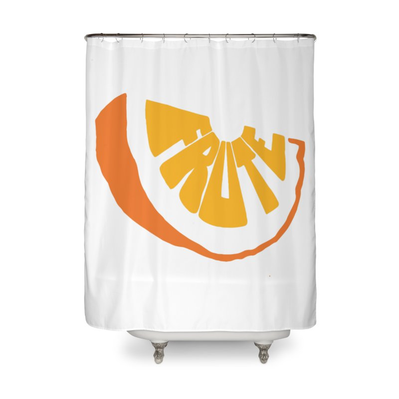 Frute Logo Home Shower Curtain by TheFruteStand's Artist Shop
