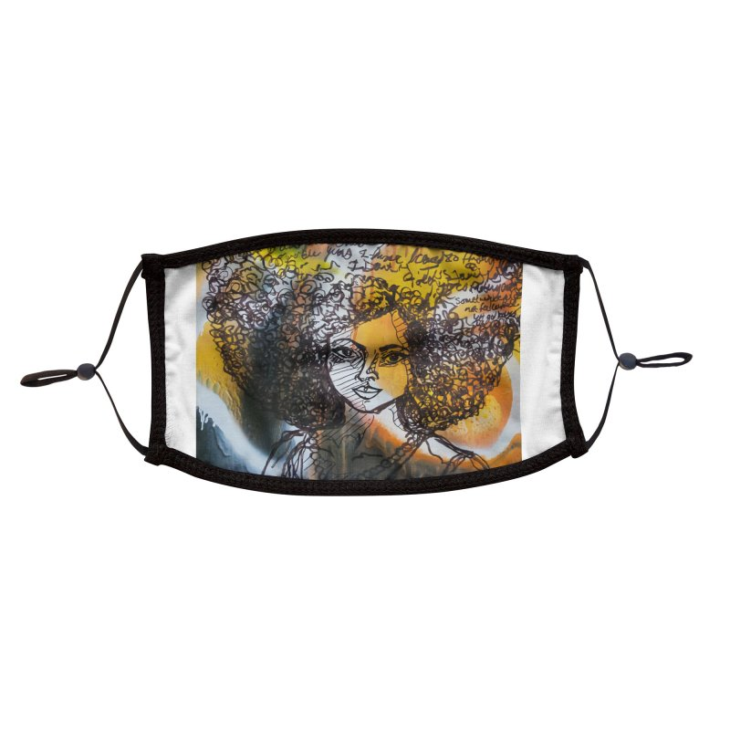 Afro, Roots & Faith Accessories Face Mask by TheFunkySpork's Artist Shop