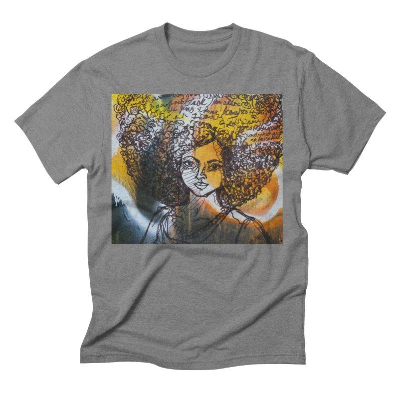 Afro, Roots & Faith Men's T-Shirt by TheFunkySpork's Artist Shop