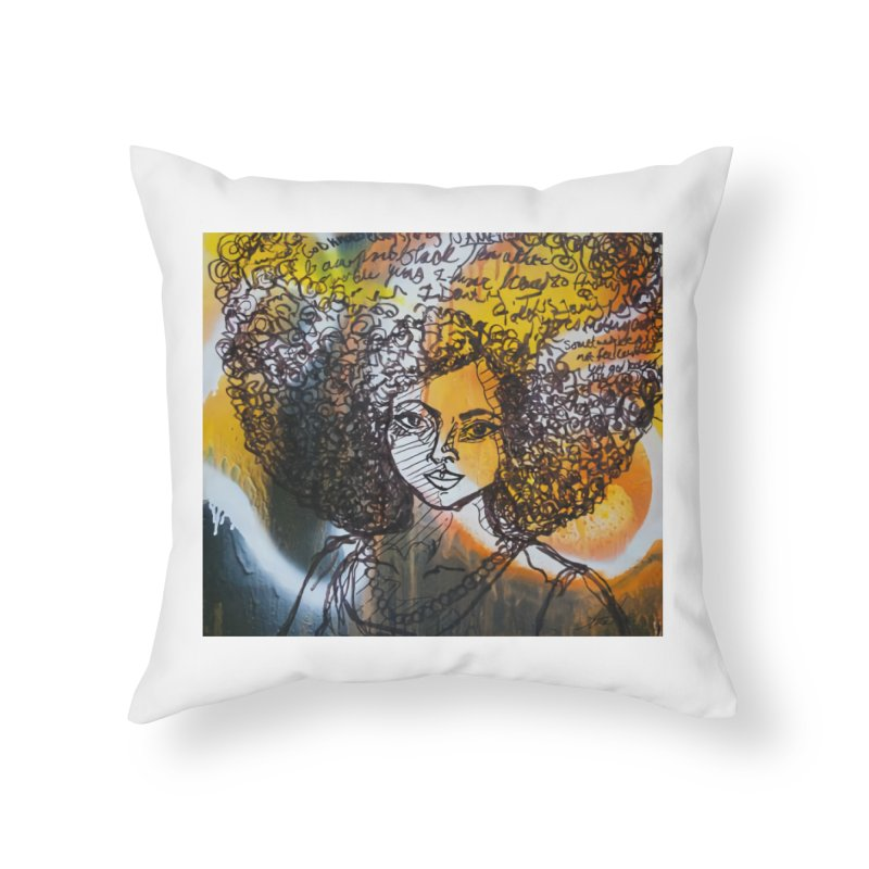 Afro, Roots & Faith Home Throw Pillow by TheFunkySpork's Artist Shop