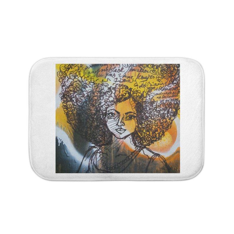 Afro, Roots & Faith Home Bath Mat by TheFunkySpork's Artist Shop