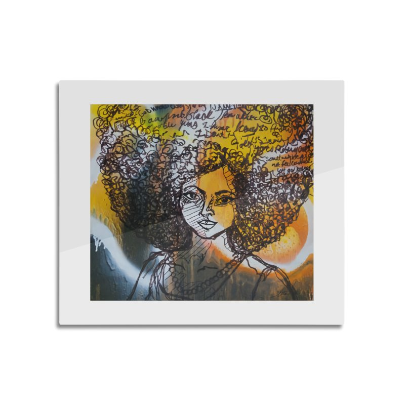 Afro, Roots & Faith Home Mounted Acrylic Print by TheFunkySpork's Artist Shop