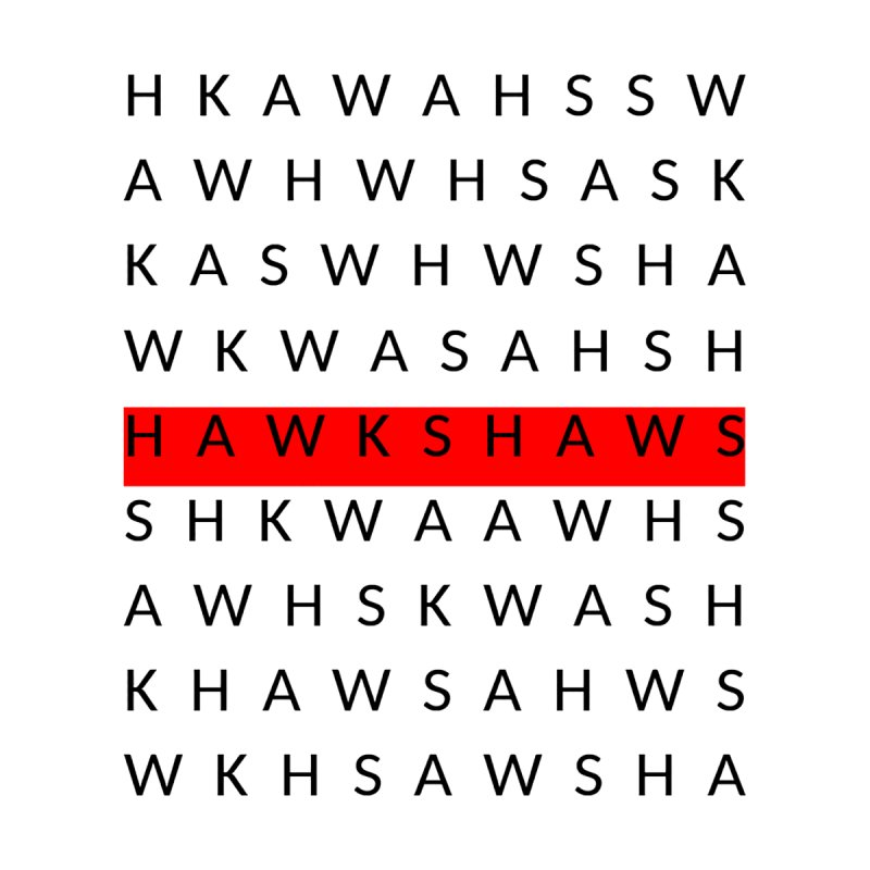 Word Search Men's T-Shirt by The Hawkshaws's Artist Shop