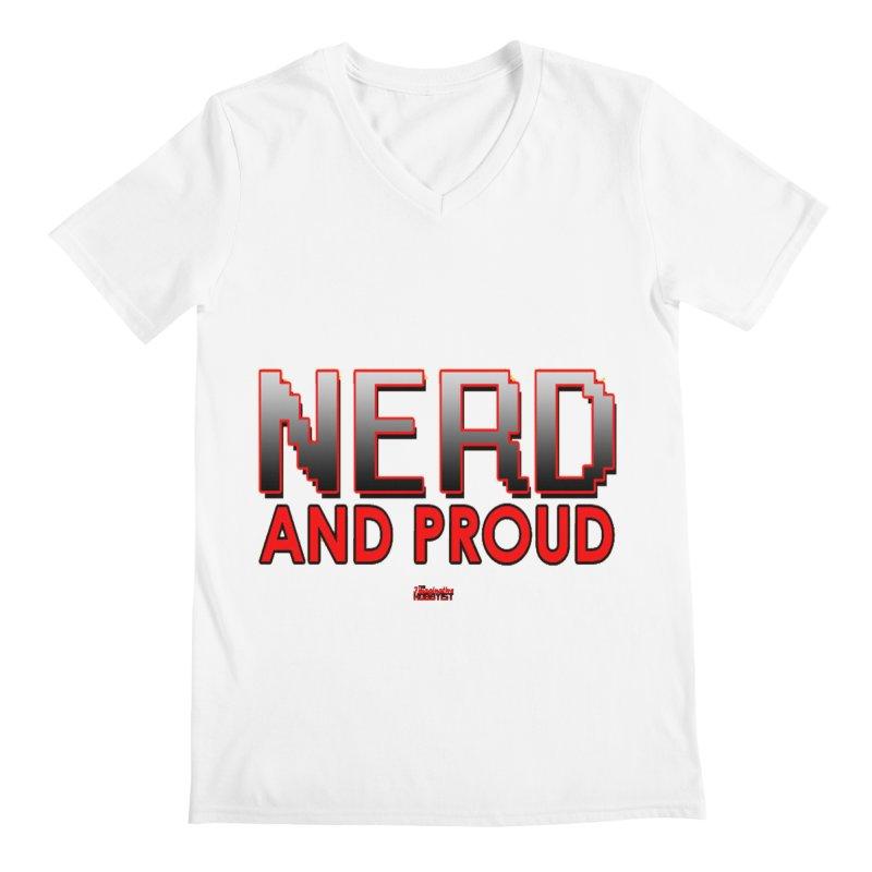 Nerd and Proud Men's V-Neck by TheImaginativeHobbyist's Artist Shop