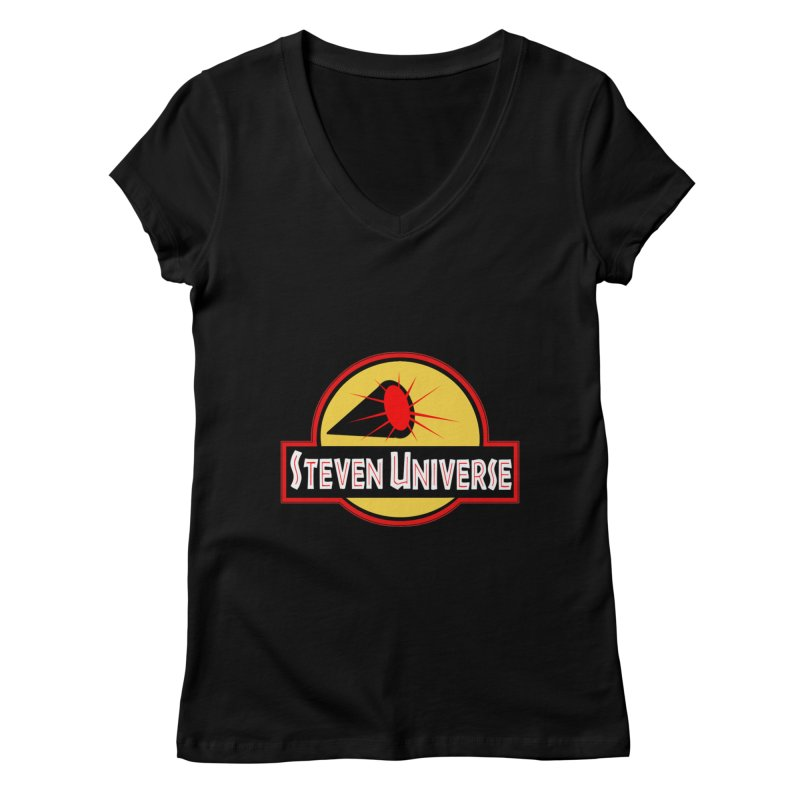 Jurassic Universe Women's V-Neck by TheImaginativeHobbyist's Artist Shop