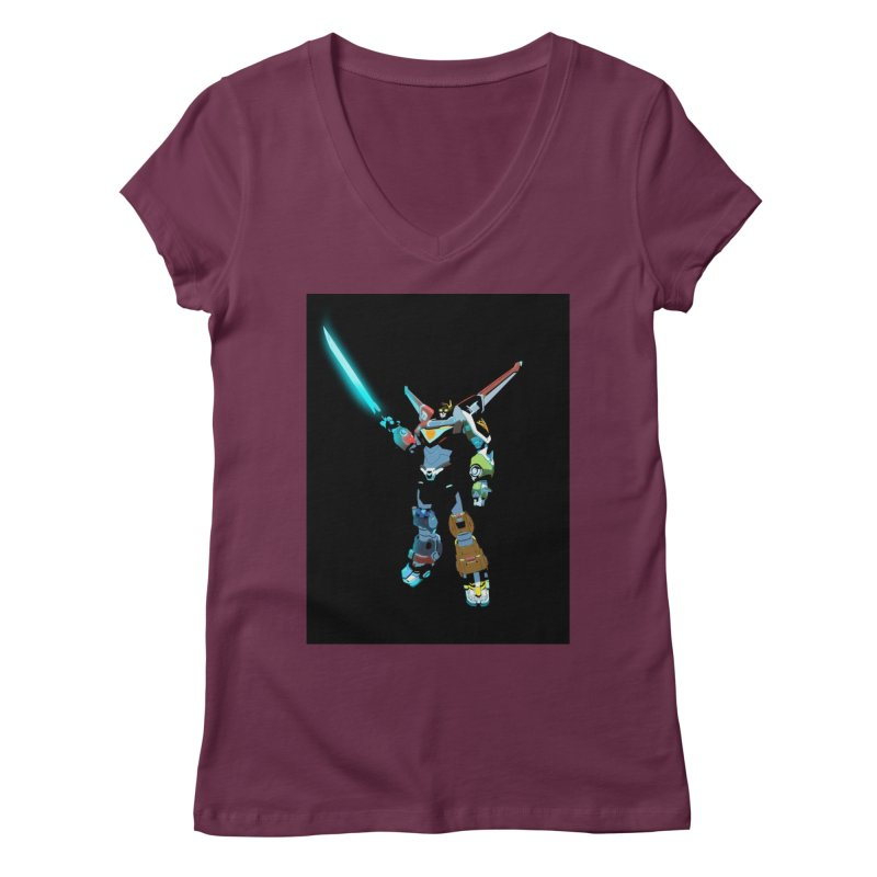 VOLTRON Women's V-Neck by TheImaginativeHobbyist's Artist Shop