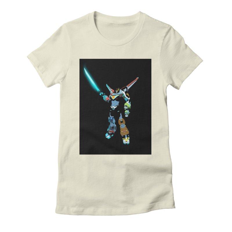 VOLTRON Women's Fitted T-Shirt by TheImaginativeHobbyist's Artist Shop