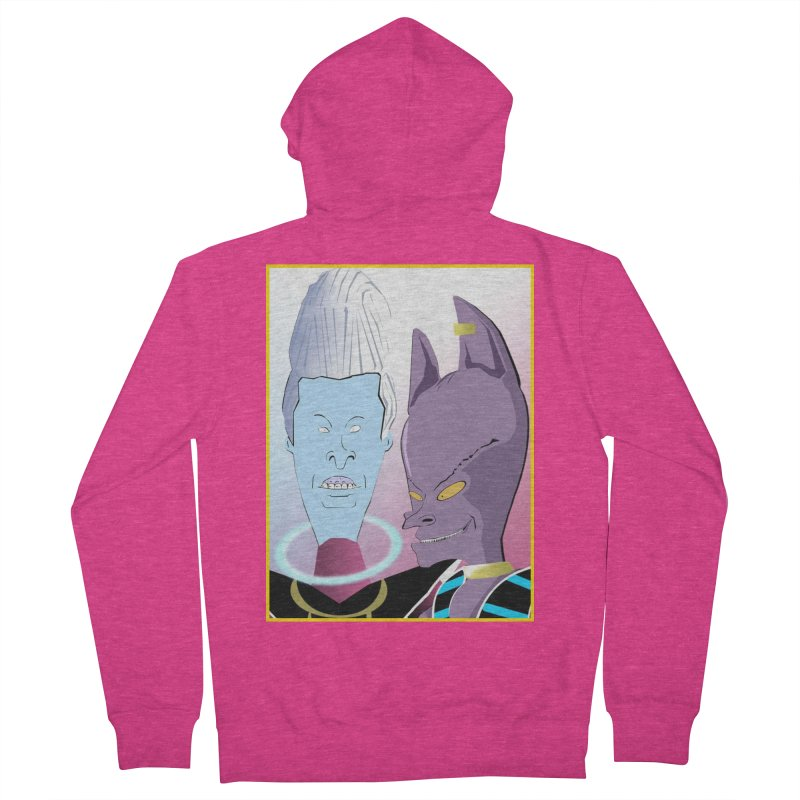 Lord Beavis and Whis-Head Women's French Terry Zip-Up Hoody by TheImaginativeHobbyist's Artist Shop