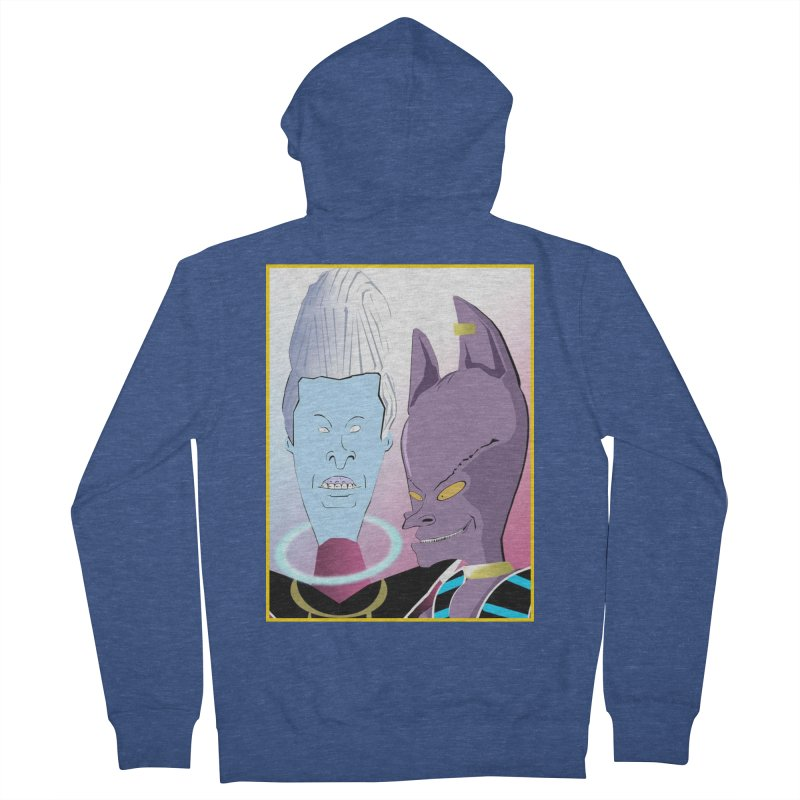 Lord Beavis and Whis-Head Men's French Terry Zip-Up Hoody by TheImaginativeHobbyist's Artist Shop