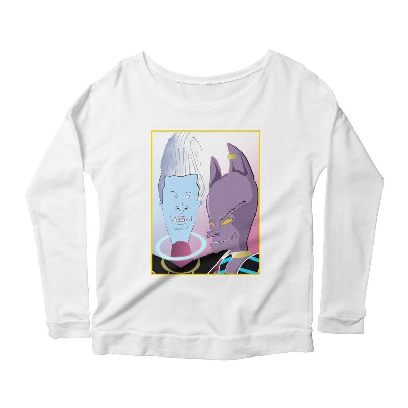 Lord Beavis and Whis-Head Women's Scoop Neck Longsleeve T-Shirt by TheImaginativeHobbyist's Artist Shop