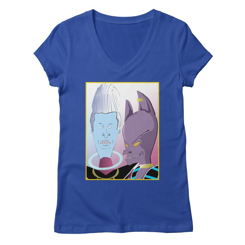 Lord Beavis and Whis-Head Women's V-Neck by TheImaginativeHobbyist's Artist Shop