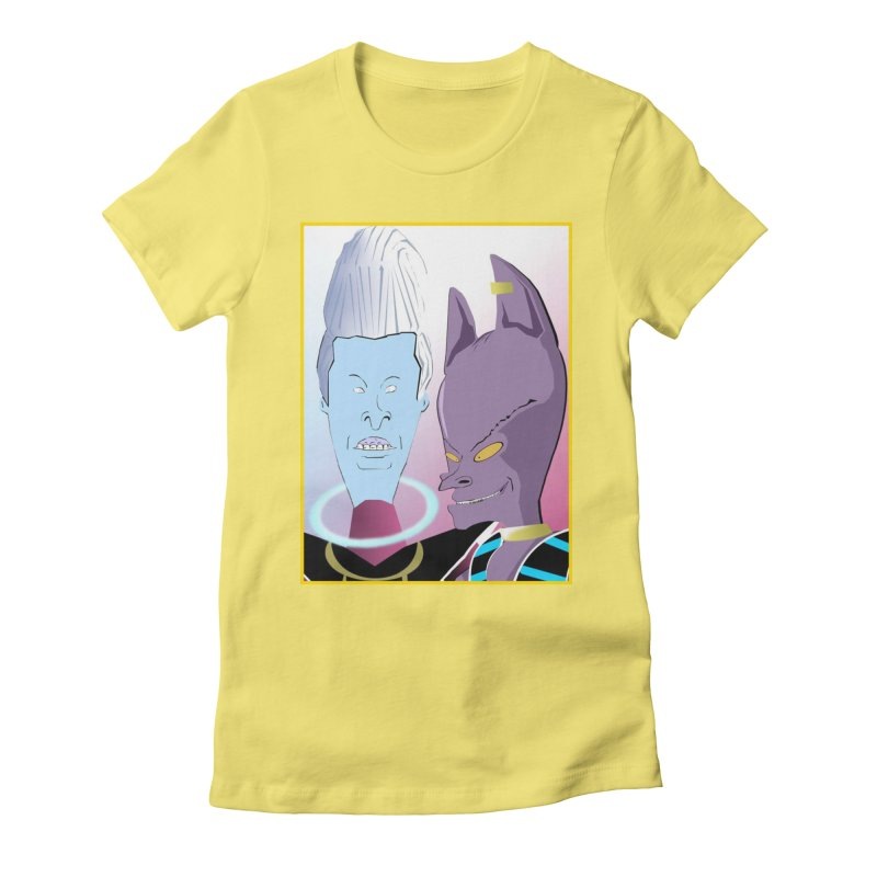 Lord Beavis and Whis-Head Women's Fitted T-Shirt by TheImaginativeHobbyist's Artist Shop