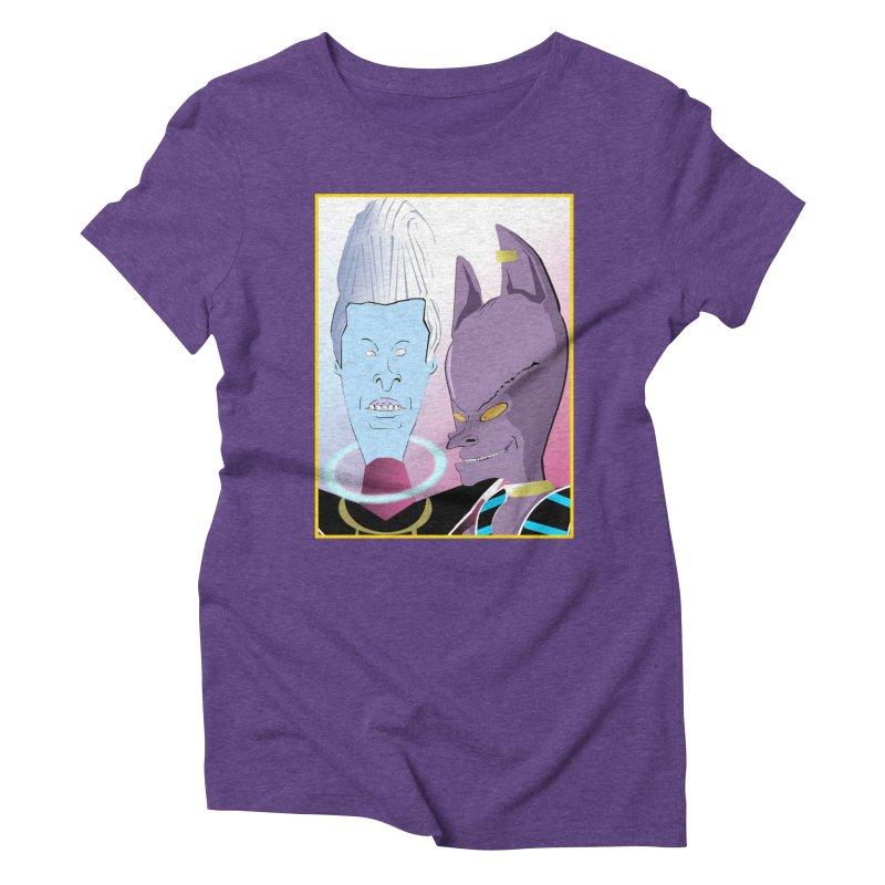 Lord Beavis and Whis-Head Women's Triblend T-Shirt by TheImaginativeHobbyist's Artist Shop