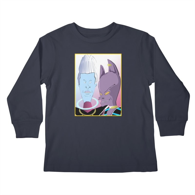 Lord Beavis and Whis-Head Kids Longsleeve T-Shirt by TheImaginativeHobbyist's Artist Shop
