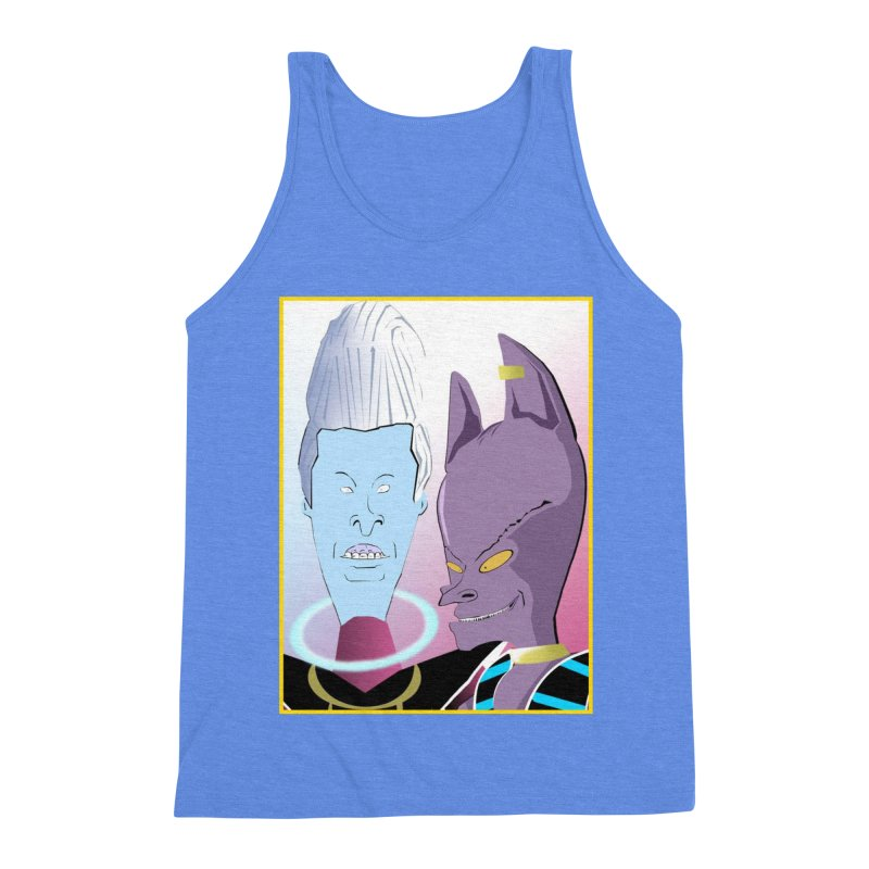 Lord Beavis and Whis-Head Men's Triblend Tank by TheImaginativeHobbyist's Artist Shop