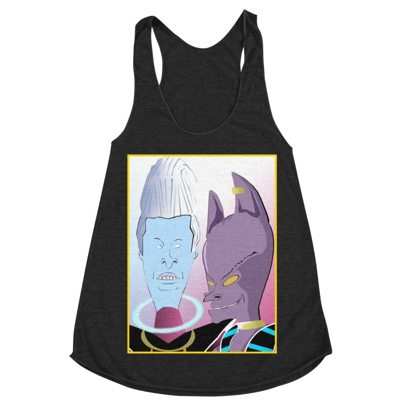 Lord Beavis and Whis-Head Women's Racerback Triblend Tank by TheImaginativeHobbyist's Artist Shop